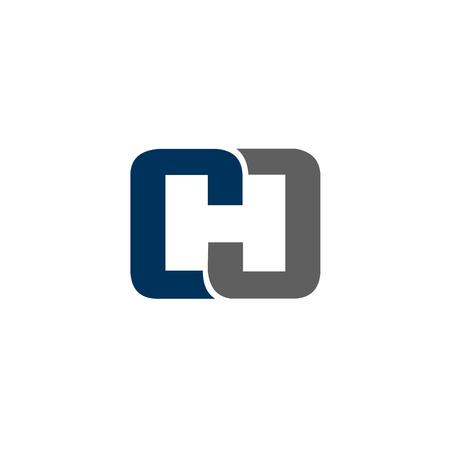 Letra CH logo diseño concepto plantilla Foto de archivo - 83310788