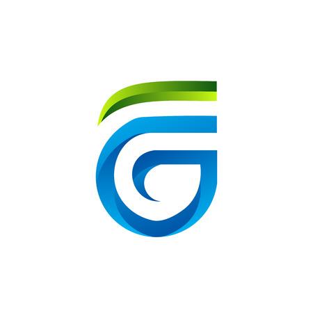 편지 FG 로고 디자인 컨셉 템플릿 일러스트