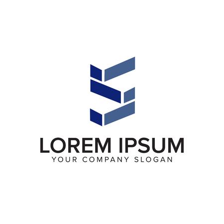 letter S logo. architectural logo design concept template