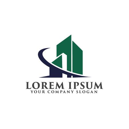 Architectural, Construction, Real Estate and Mortgage logo design concept template Logo