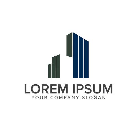 建築、建設、不動産、住宅ローンのロゴ デザイン コンセプト テンプレート