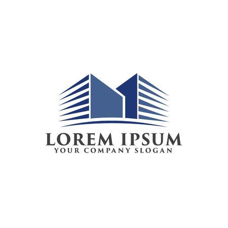Modello di concetto di progettazione logo architettonico, edilizia, immobiliare e ipoteca Archivio Fotografico - 83310798