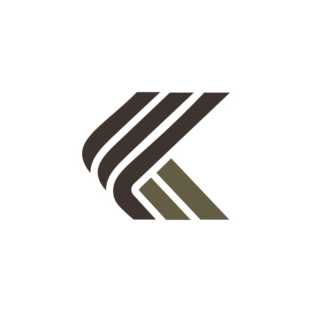 letter k luxe logo ontwerpsjabloon concept