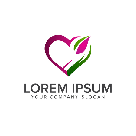 love green logo design concept template Illustration