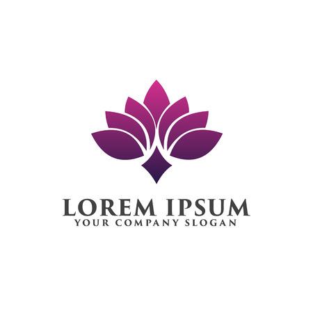 꽃 스파 로고 디자인 컨셉 템플릿