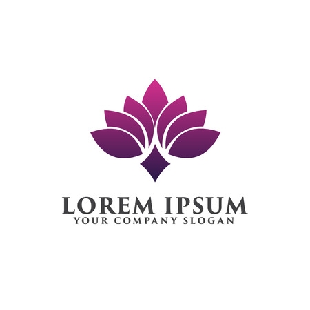 flower spa logo design concept template
