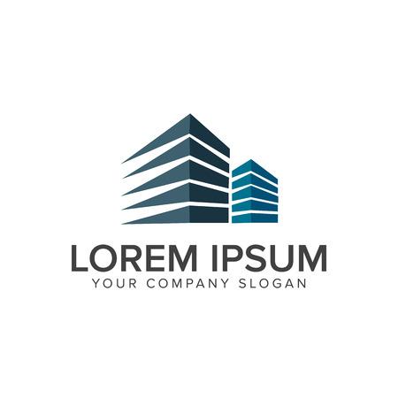 Modèle de concept de conception de logo architectural, de construction, d'immobilier et hypothécaire