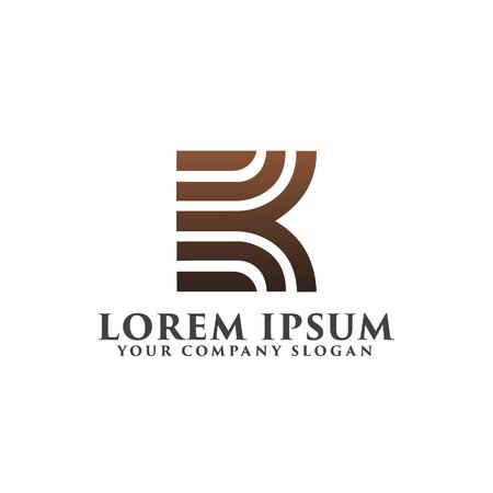 letter k luxe logo ontwerpsjabloon concept