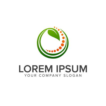 best protection: leaf healty logo design concept template