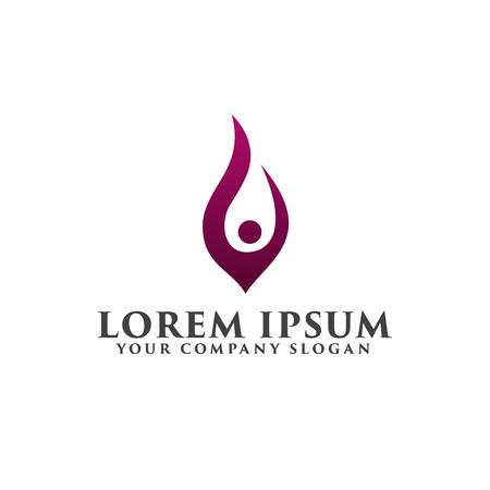 la gente levanta la plantilla de concepto de diseño de logo Logos