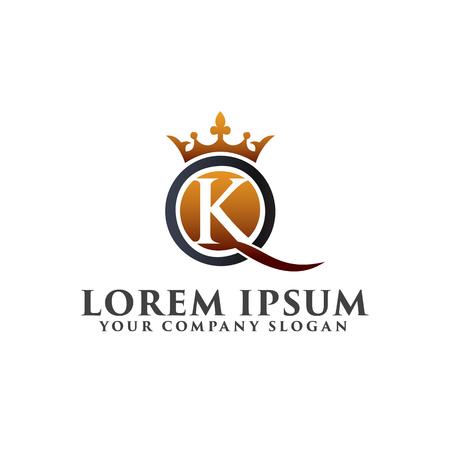 Modello di progettazione di logo di lusso di lusso K Archivio Fotografico - 83310886