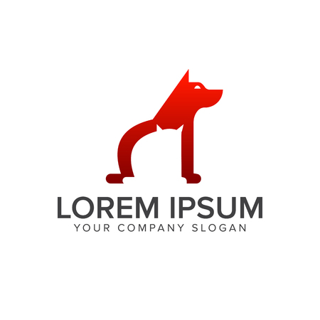 dog medical logo design concept template