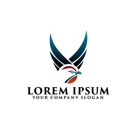 eagle wing logo design concept template