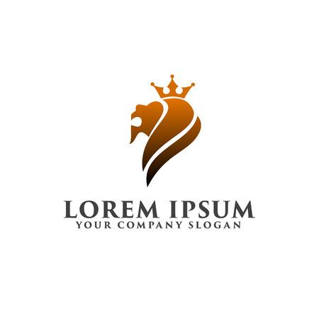 lionhead: Lion head luxury logo design concept template