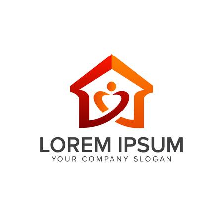 home love logo. real estate logo. design concept template