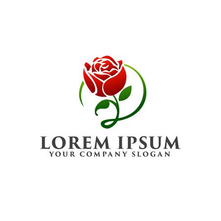 roses logo design concept template Фото со стока - 83311044