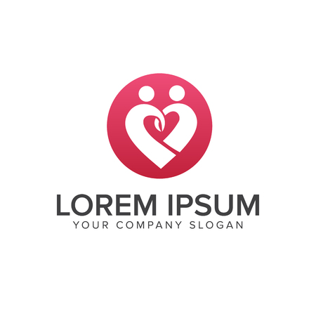 people love logo design concept template