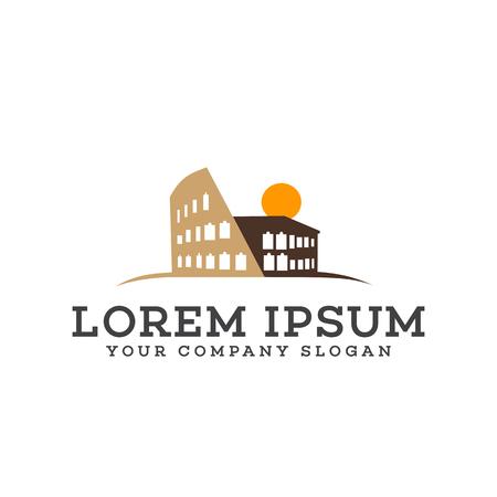 Building Rome logo design concept template