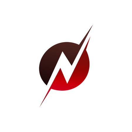 Letter N logo design concept template
