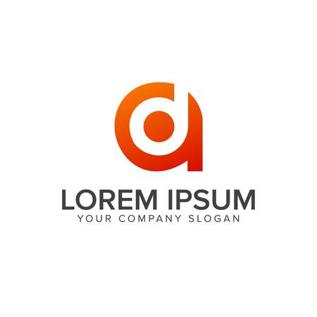 Letter D A logo design concept template Illustration