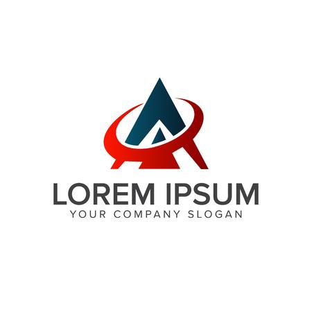 Letter A. Technology logo design concept template