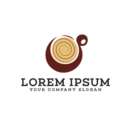 Coffee logo design concept template Illustration