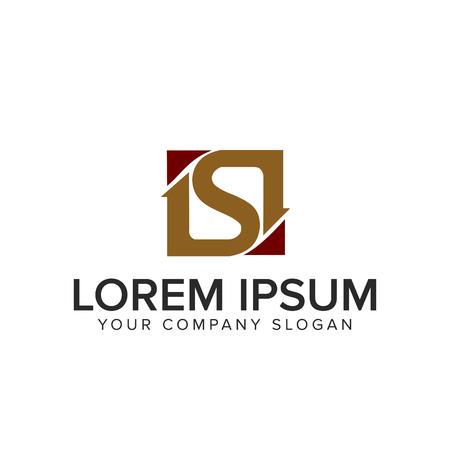 Letter S-logo. vierkant ontwerpsjabloon