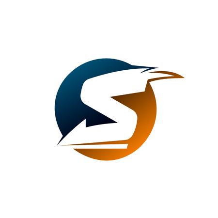 Letter S circle logo design concept template