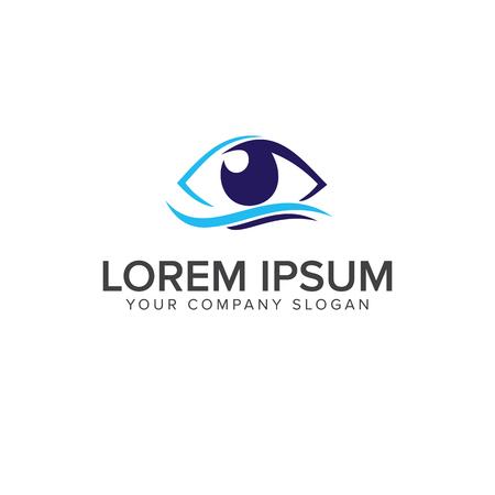 Eye logo design concept template