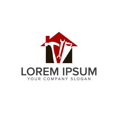 Construction tool logo design concept template Иллюстрация