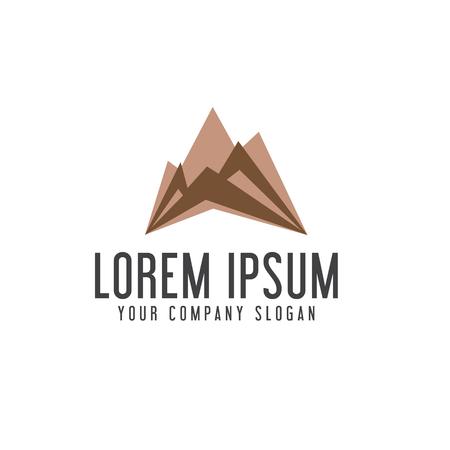 Modern mountain logo design concept template