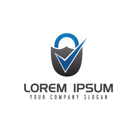 beveiligingsvinkje logo ontwerp concept sjabloon Stock Illustratie