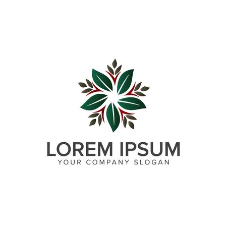 Blad decoratie logo ontwerp concept sjabloon