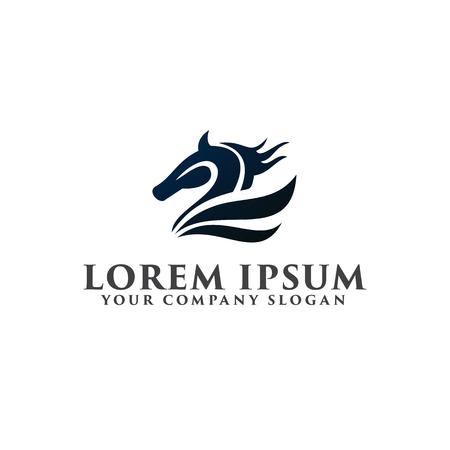 Cavallo modello di progettazione logo logo Archivio Fotografico - 83311744