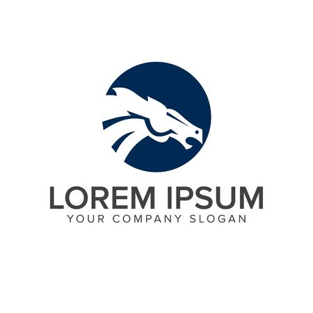 horse head logo design concept template Çizim