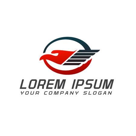bird logistic logo design concept template