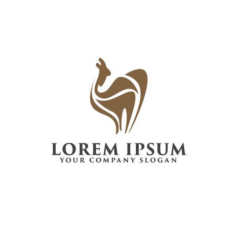 camel logo design concept template