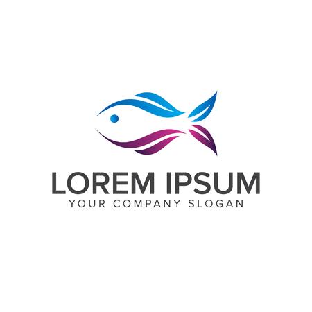Logo de poissons . beauté logo de conception modèle de conception Banque d'images - 83310605