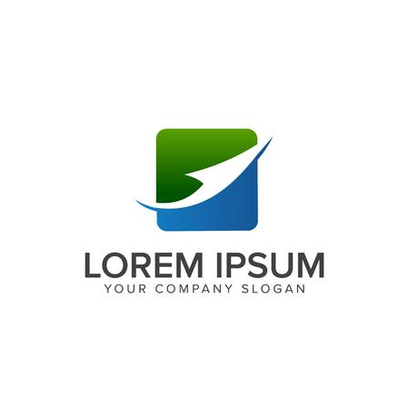 arrow logo. business logo design concept template