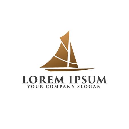 Creative Ship Concept Logo Design Template design concept template Ilustração