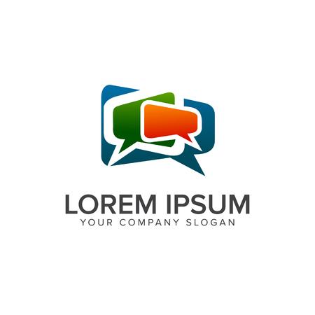 Kommentar Kommunikation Logo Design Konzept Vorlage Standard-Bild - 83312753
