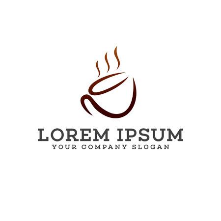 Plantilla del diseño del logotipo del coffe