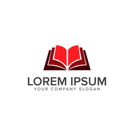 open book education logo design concept template
