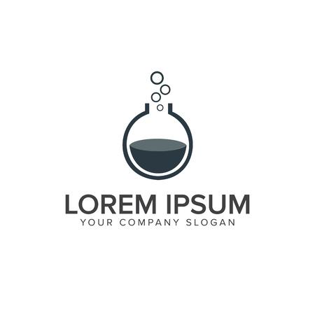 Lab logo. flask glass logo design concept template Ilustrace