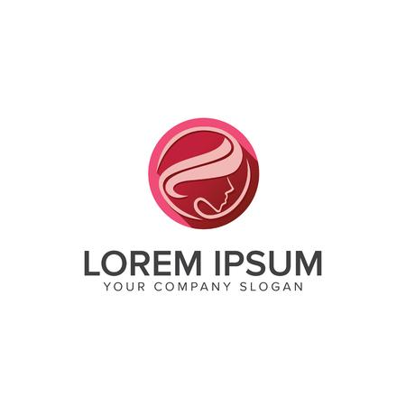 Beautiful women Logos. Spa ,Cosmetics and beauty logo design concept template