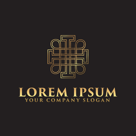 Decoration Interior Logo. Luxury logo design concept template