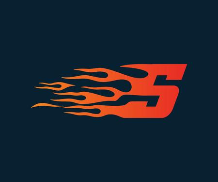 Letter S flame Logo. speed logo design concept template Reklamní fotografie - 83315890