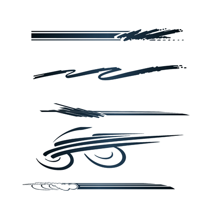 Voiture, Moto Graphics Véhicule Racing, Vinyls & Stickers Banque d'images - 83310087