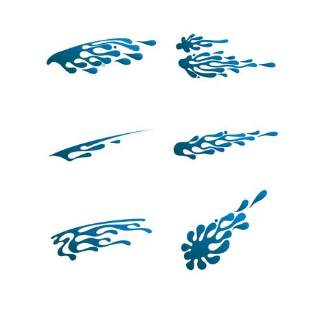 液体の部族車両グラフィック水スパーク車両グラフィック ラップ デザイン  イラスト・ベクター素材
