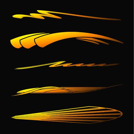 Coche, motocicleta que compite con los gráficos del vehículo, Vinilos y Adhesivos